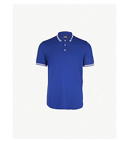 c1e4142a EMPORIO ARMANI - Logo-detail cotton-piqué polo shirt | Selfridges.com