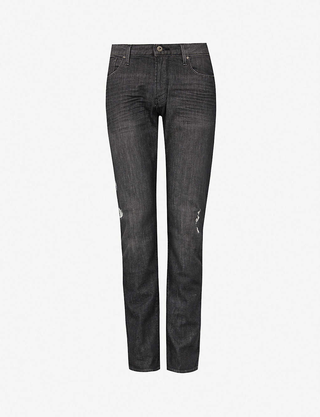 7adc0a85d8f EMPORIO ARMANI - J06 ripped slim-fit straight jeans | Selfridges.com