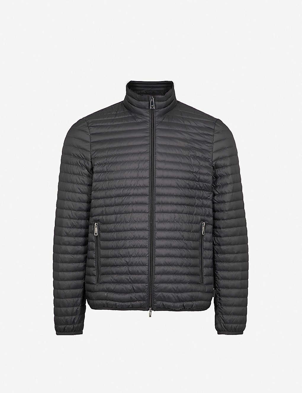 bebb16496d87c EMPORIO ARMANI - Quilted shell-down jacket   Selfridges.com