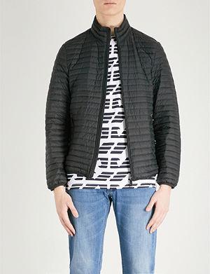 b2c99fad9256 EMPORIO ARMANI - Eagle logo-print padded down-blend jacket ...
