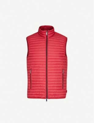 EMPORIO ARMANI Funnel-collar padded shell and down-blend gilet