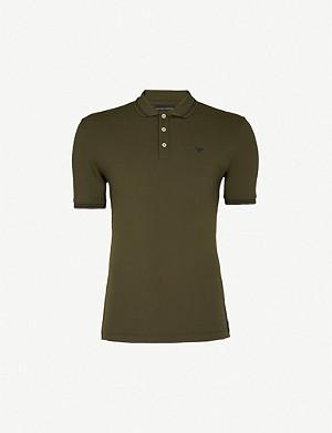 925cb03b5 COMME DES GARCONS PLAY - Fitted cotton polo shirt   Selfridges.com