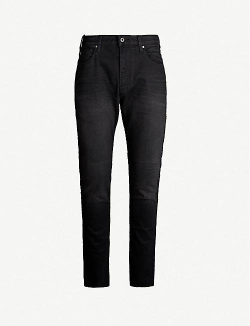 f979066004b0 EMPORIO ARMANI Slim-fit straight stretch-denim jeans