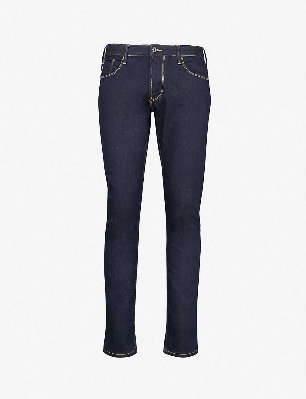c818c777 EMPORIO ARMANI - J06 slim-fit straight jeans   Selfridges.com
