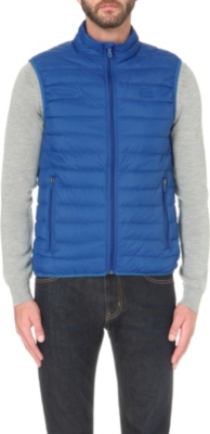 80347ac4 ARMANI JEANS - Quilted shell gilet   Selfridges.com