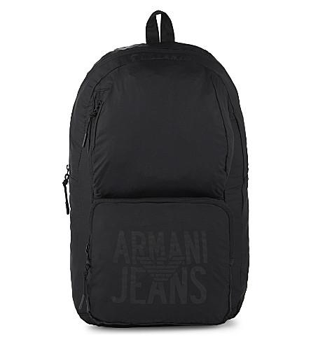 6de2e76b5ed1 ... ARMANI JEANS Packaway nylon backpack (Black. PreviousNext