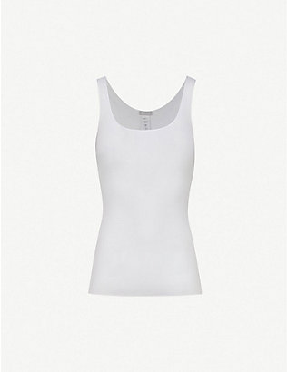 HANRO: Seamless cotton vest top