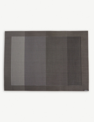 CHILEWICH Colour tempo striped rectangular placemat 36x48cm