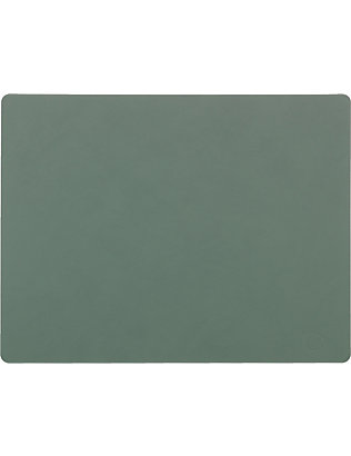 LIND DNA: Square leather table mat