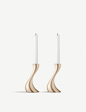 GEORG JENSEN Cobra candleholders set of two