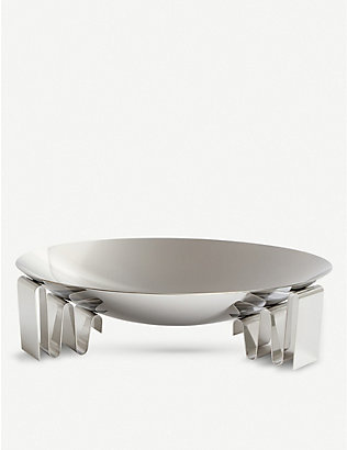GEORG JENSEN: Frequency stainless steel bowl 31.7cm