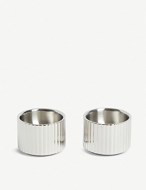 GEORG JENSEN Bernadotte set of two stainless steel egg cups 3.3cm