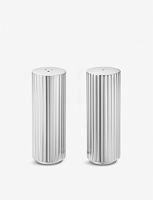 GEORG JENSEN Bernadotte stainless steel salt and pepper set 8.8cm