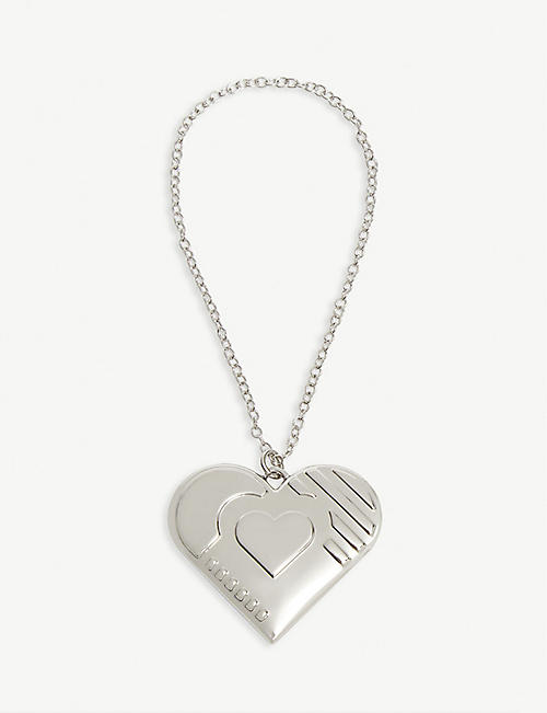 GEORG JENSEN Palladium plated heart ornament 3.5cm x 4cm