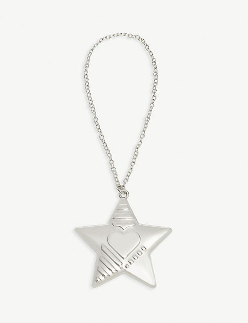 GEORG JENSEN Palladium plated star ornament 4.2cm