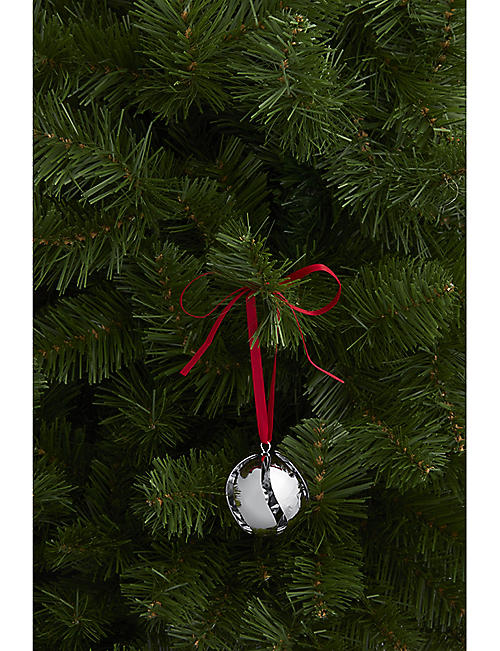 GEORG JENSEN 18ct palladium-plated brass Christmas bauble 6cm