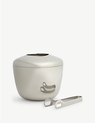GEORG JENSEN: SKY ice bucket and tongs