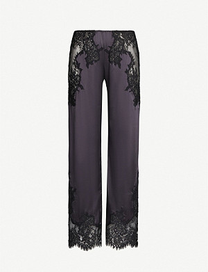MARJOLAINE Idylle silk-satin pyjama bottoms