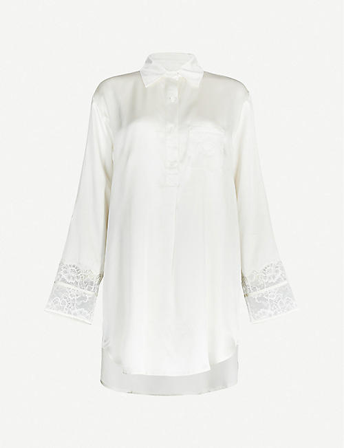NK IMODE Meghan silk-satin night shirt