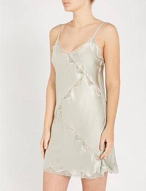 NK IMODE Devon Gimme Love silk-satin and stretch-lace chemise f8706f6f4
