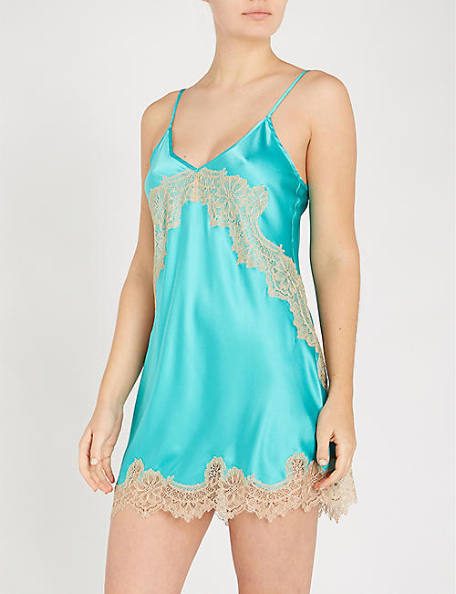 NK IMODE Skyler So Chic silk-satin and lace chemise