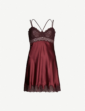 NK IMODE Letizia lace-trimmed silk-satin chemise