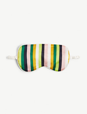 OLIVIA VON HALLE 1977 stripe-printed silk eye mask