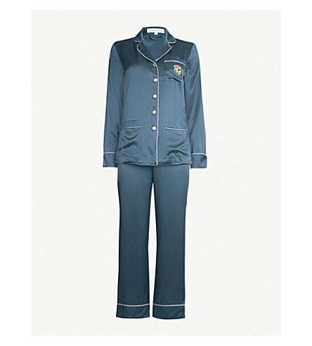 OLIVIA VON HALLE - Coco Ivory silk-satin pyjama set  e9e4d220e