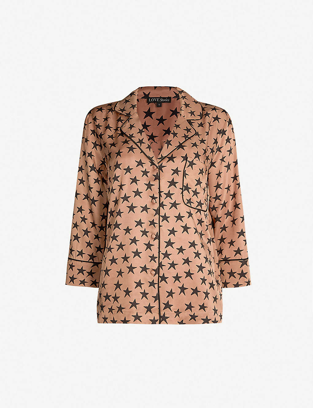 fc573630 LOVE STORIES - Jude star-print satin pyjama shirt | Selfridges.com