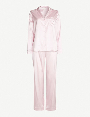 YOLKE Stretch-silk pyjama set