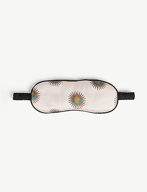 YOLKE Sun print silk eye mask