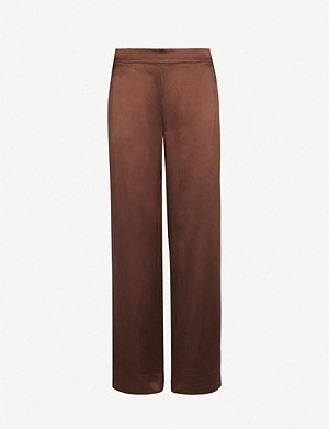 ASCENO The London silk-satin pyjama bottoms