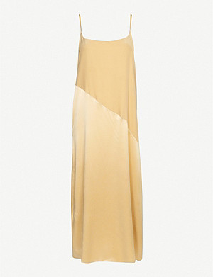 ASCENO Lisbon silk-satin slip dress