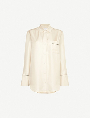 ASCENO Milan silk-satin pyjama top
