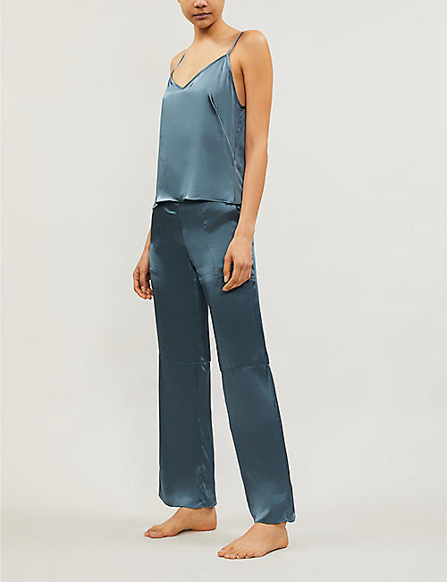 KENT WOMAN Smash relaxed-fit organic-silk trousers