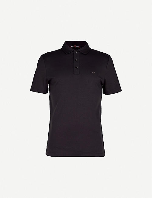 MICHAEL KORS Short-sleeved cotton-jersey polo shirt