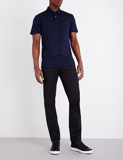 8e0bdb7f9691 MICHAEL KORS Short-sleeved cotton-jersey polo shirt