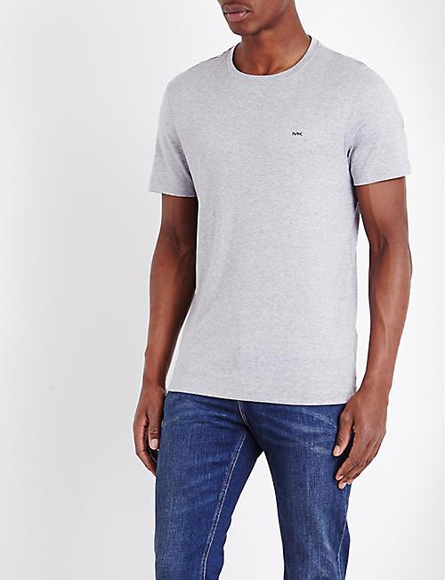 eb544c0876ae6 MICHAEL KORS Crewneck cotton-jersey t-shirt