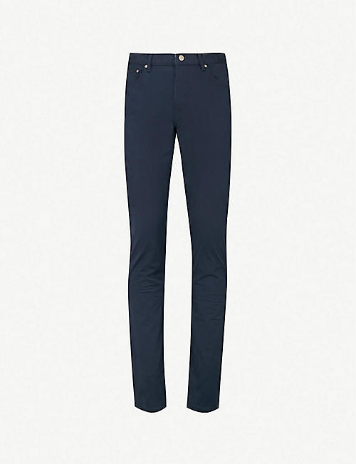 MICHAEL KORS Slim-fit tapered stretch-cotton chinos