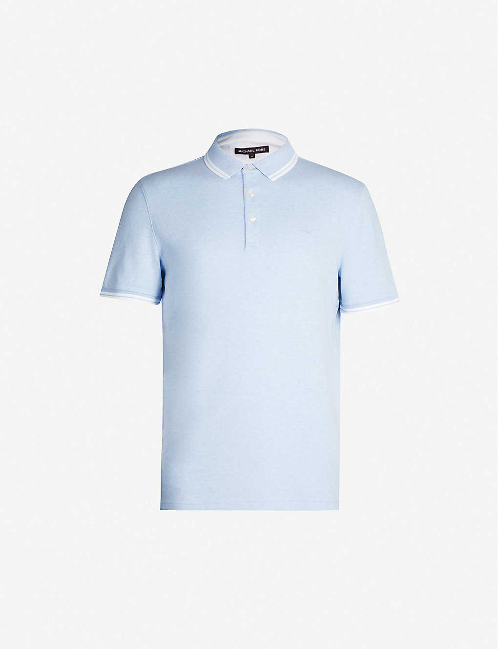 187dcb8a MICHAEL KORS - Striped-trims cotton-jersey polo shirt | Selfridges.com