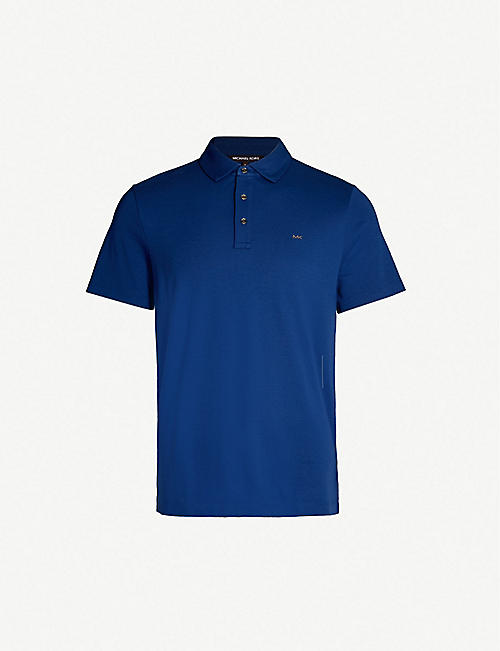 14eef223b36 MICHAEL KORS Embroidered logo cotton-jersey polo shirt