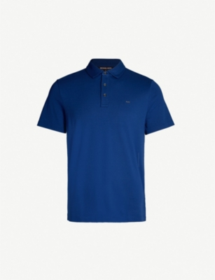 MICHAEL KORS Embroidered logo cotton-jersey polo shirt