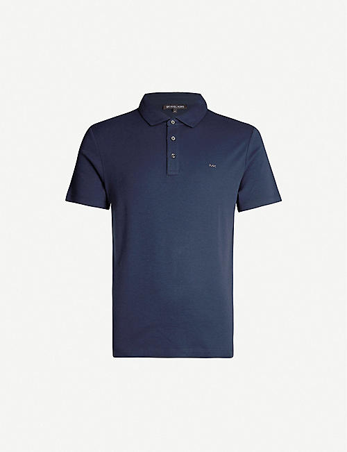 MICHAEL KORS Logo-embroidered cotton-jersey polo shirt