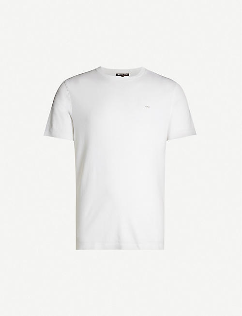 MICHAEL KORS Logo-embroidered cotton-jersey T-shirt