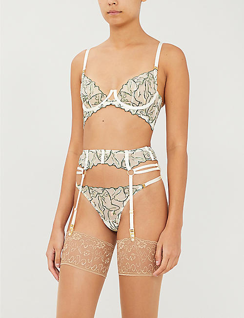 BORDELLE Moa lace suspender belt