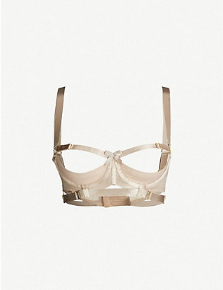 BORDELLE: Gia tulle shelf bra