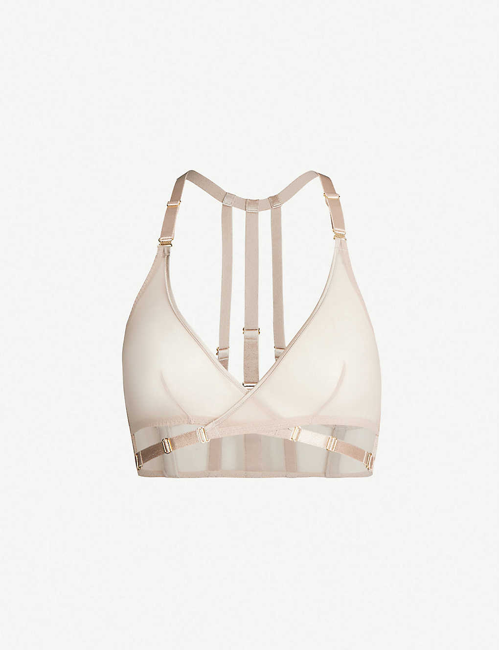 BORDELLE: Art Deco tulle bra