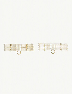 c4119866e BORDELLE - Bubble patterned Swiss tulle longline suspender belt ...