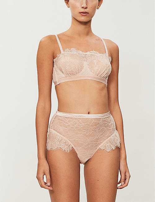 BLUEBELLA Tallie frilled high-rise lace briefs