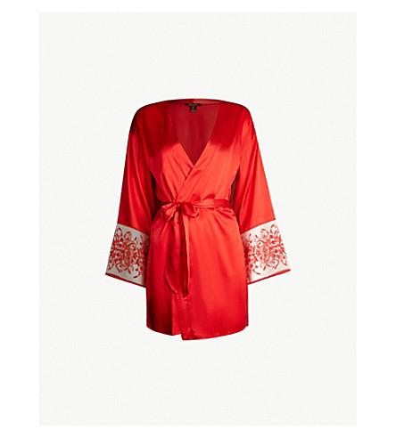 2c6531a74eb6a ... Beauty silk-blend satin robe (Scarlet. PreviousNext